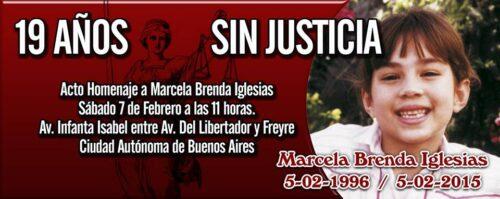 FAMILIARES DE MARCELA IGLESIAS RECLAMAN JUSTICIA