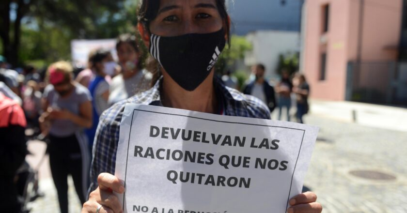 PROTESTA DE COMEDORES ESCOLARES EN LA CABA